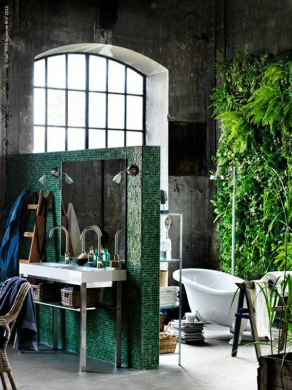 Badezimmer - Bathroom design with flowers and plants - original ideas spring