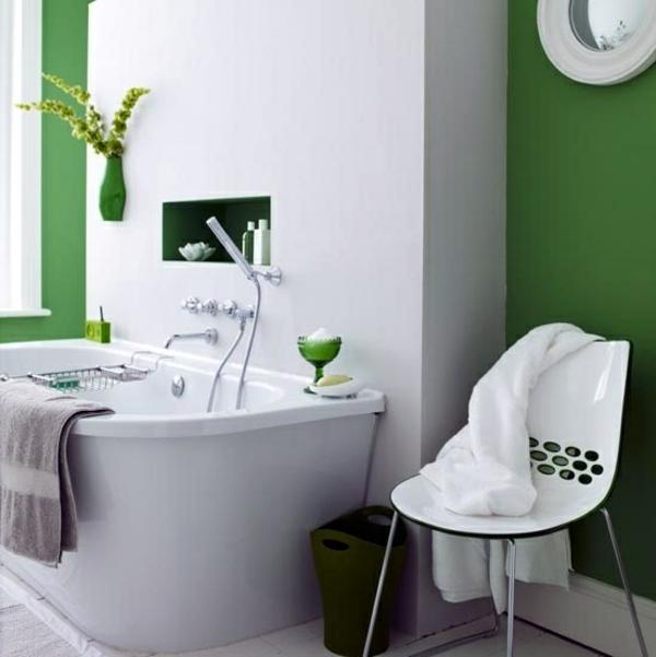 Bathroom design with flowers and plants - original ideas spring