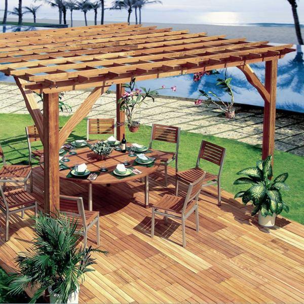 Build Pergola Or How To Build A Gazebo Itself Interior