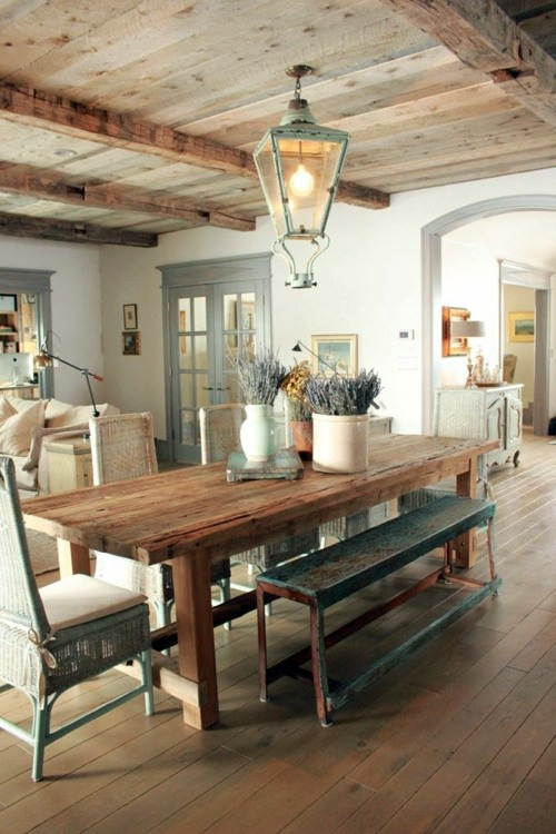 Dining in a country style with chairs for dining room ...