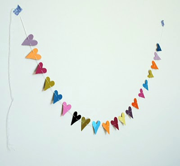 Valentinstag - 15 Cool Valentine's Day garlands ideas to tinkering