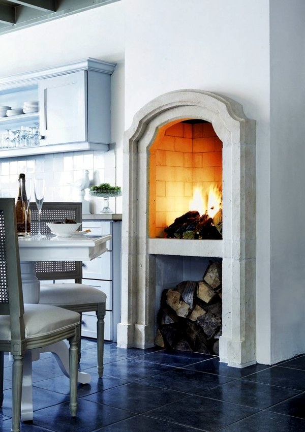 Cosy Ambience With Kitchen Fireplace Interior Design Ideas Avso Org