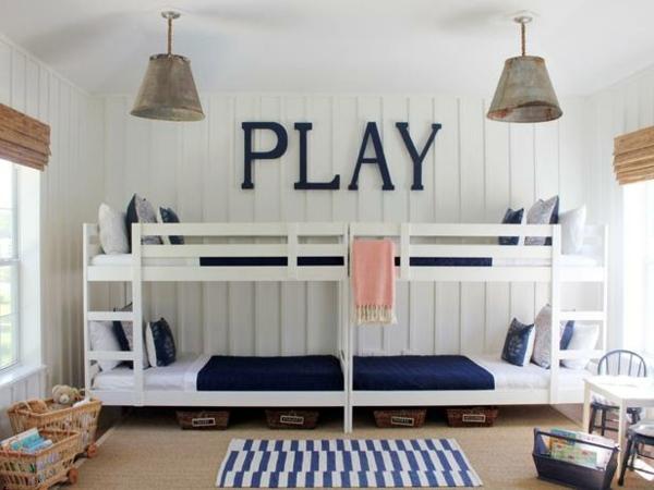 Kinderzimmer gestalten - Loft bed in the nursery - 100 cool bunk beds for children