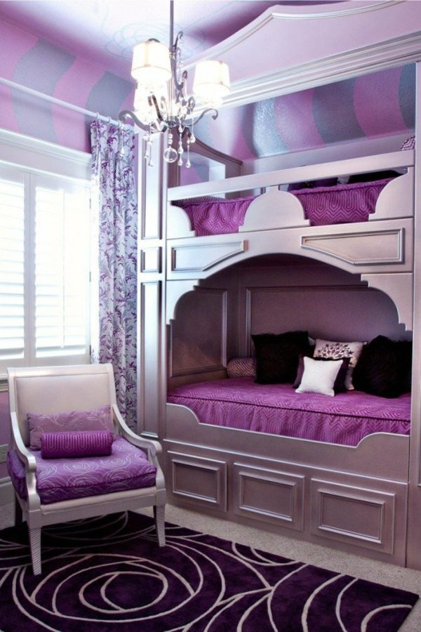 Loft bed in the nursery - 100 cool bunk beds for children