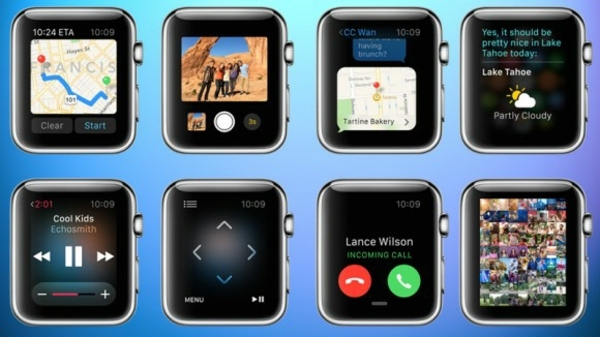 Contemporary - Apple wristwatch makes life easier