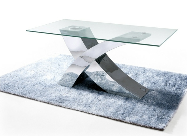 Couchtisch - An industrial steel table with modern elegance