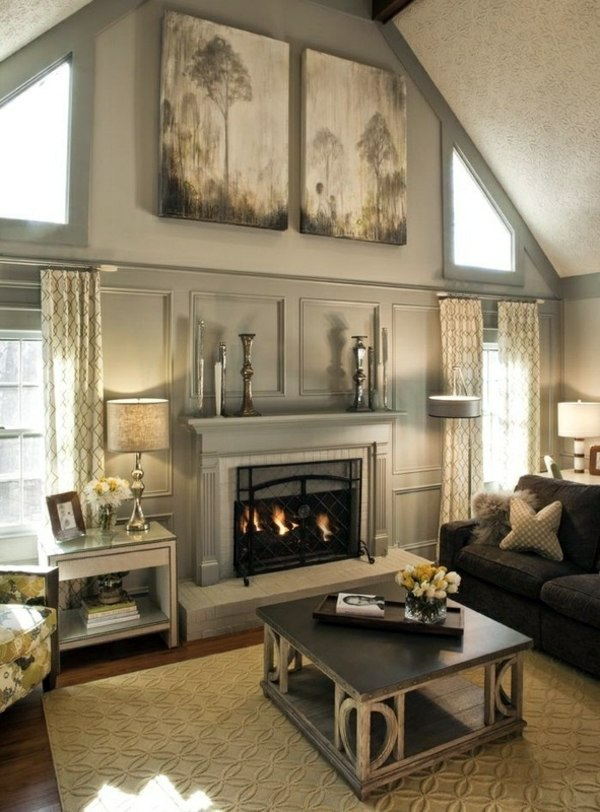Wall color is silver as light within the interior design design