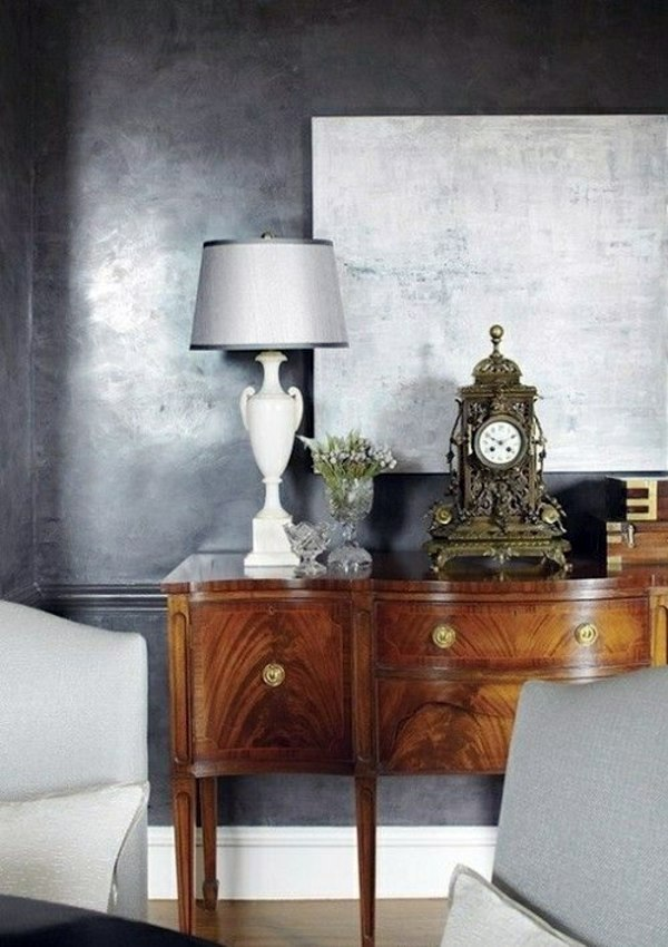 Mix Metallic Colors Wall Color Is Silver As Light Within The Interior Design