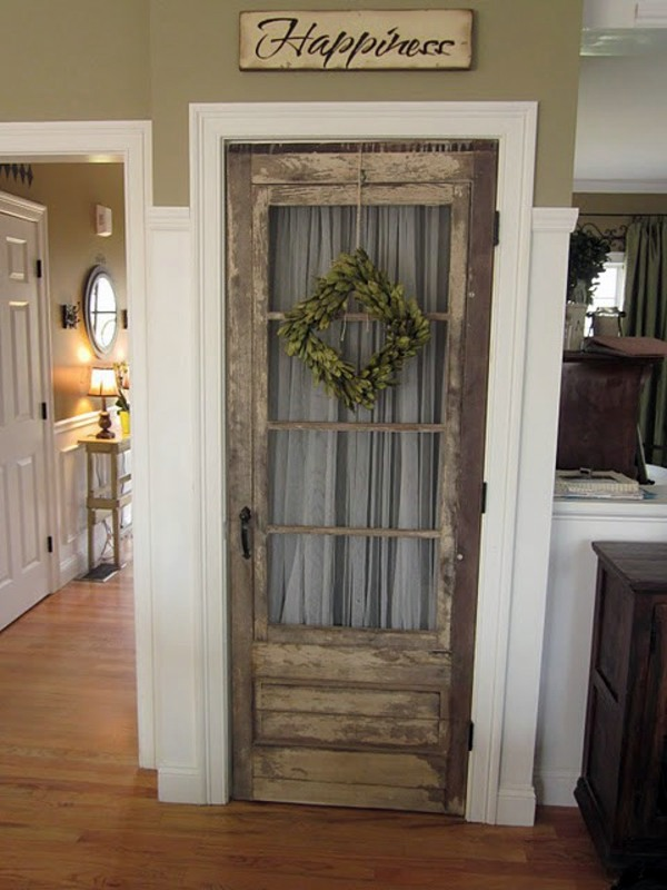 Old doors re-use - cool decoration and DIY furniture