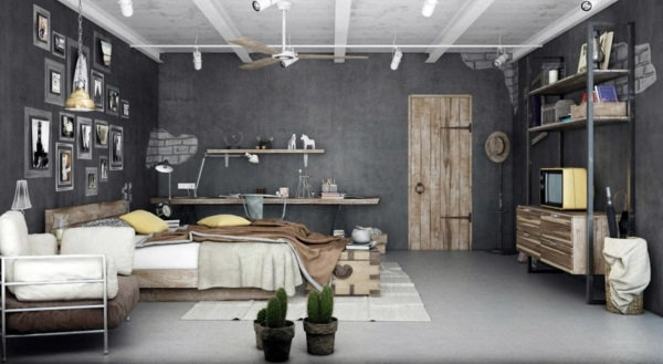 30 interior design ideas for wall paint in shades of gray ...