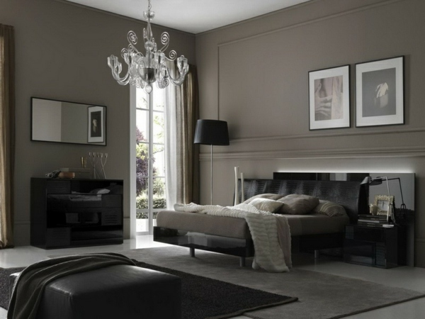 30 interior design ideas for wall paint in shades of gray - trendy color design