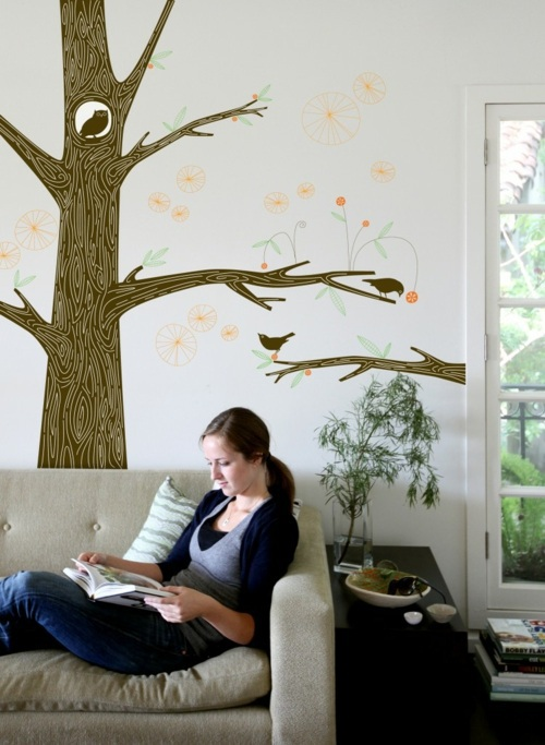 Wanddeko - Wall Decoration with Wall Decal - 70 beautiful ideas and designs