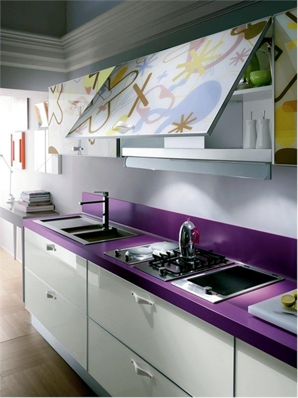 Küche - Wonderful modern kitchens furniture made of glass by Scavolini