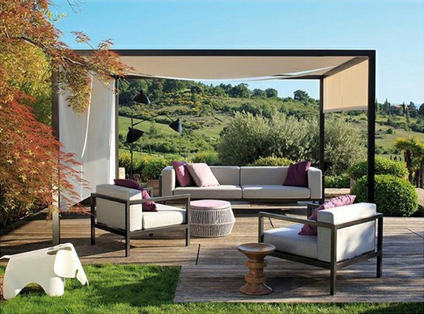 outdoor area with canopy great idea