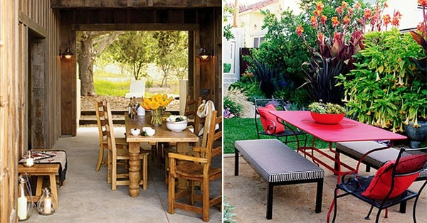 Gartenmöbel Set - Attractive Ideas for a cozy and beautiful dining area in the garden