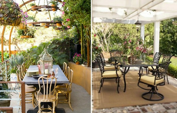 Attractive Ideas for a cozy and beautiful dining area in the garden