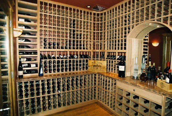 Artful Wine Cellar With A Peak Design By Patrick Wallen