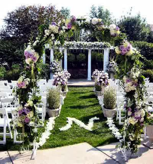 Wedding Decor With Floral Decoration Cool Wedding Decoration