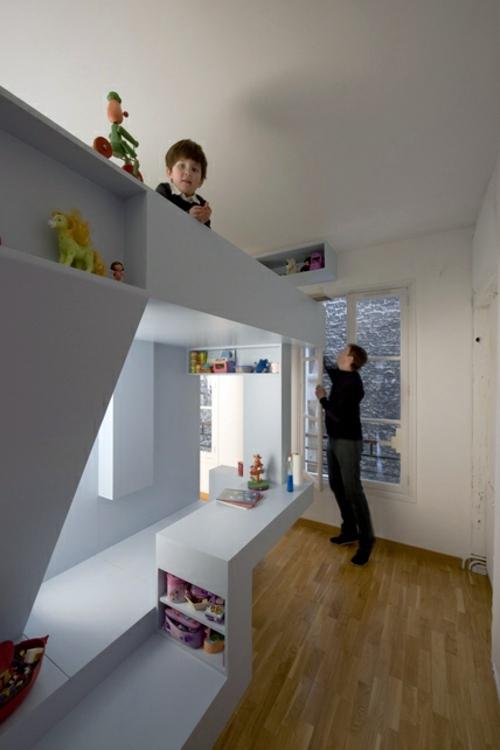 Minimalist Kids Room Design by H2O Architects