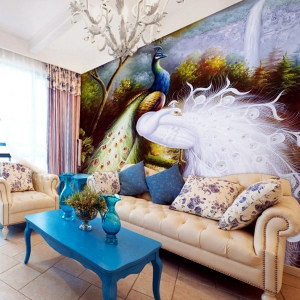 peacock inspired living room peacock feathers decoration in the living room trends 14552