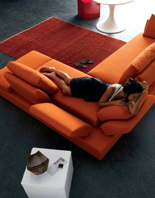 Wohnzimmer Ideen - Modern living room design - bright, contrasting colors
