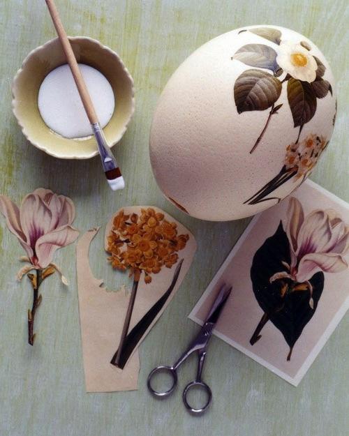 Osterdeko basteln - Make Easter eggs with decoupage