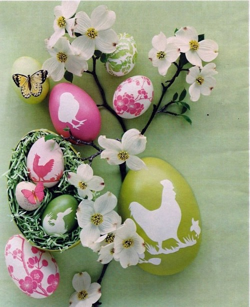 Ostern - Make Easter eggs with decoupage