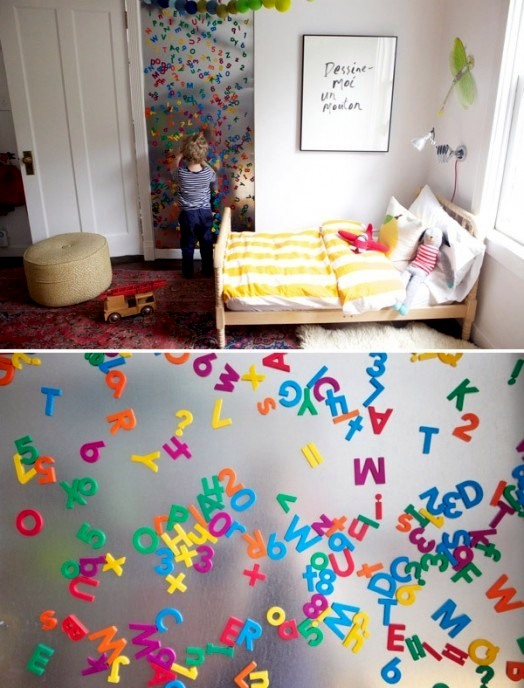 Kinderzimmer - 10 practical and useful ideas for magnetic board in the nursery