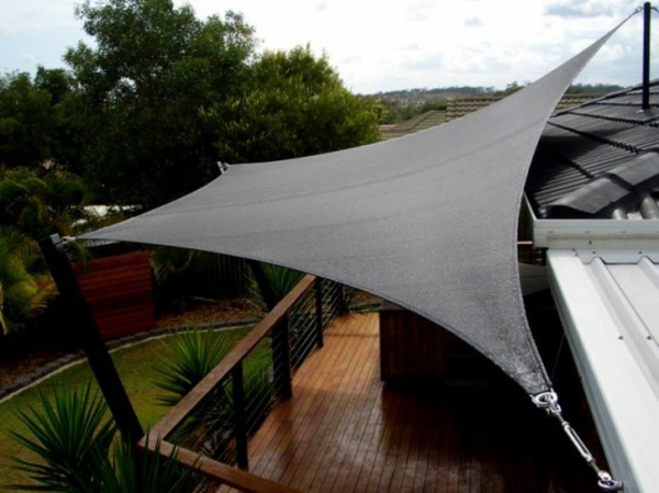 Shade sails ideas for thick shadow in the backyard ... on Shade Sail Backyard Ideas id=74179