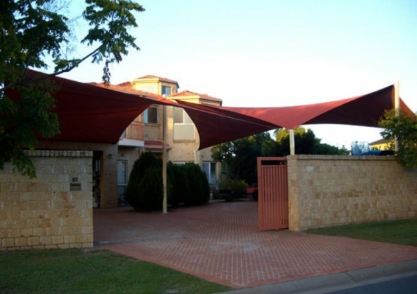 Shade sails ideas for thick shadow in the backyard ... on Shade Sail Backyard Ideas id=76650