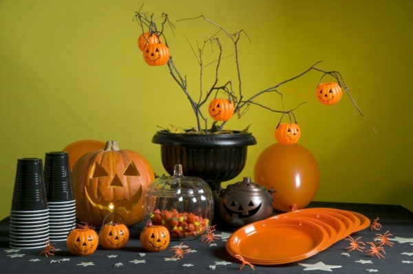 Halloween Deko - Table decoration crafts - Halloween decoration do it yourself