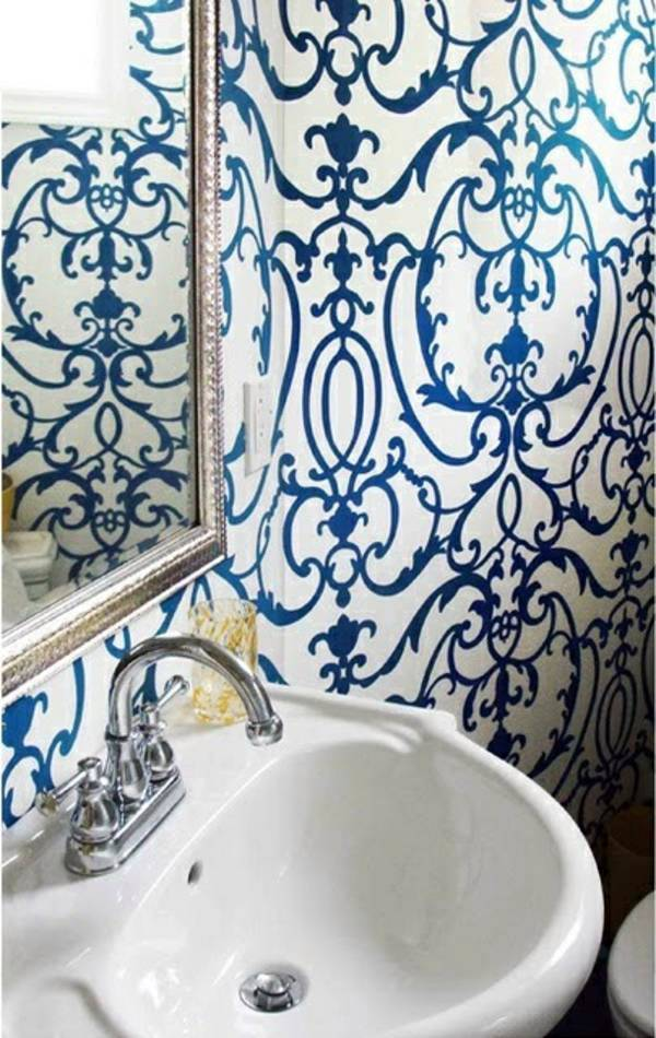 Blue Wallpaper - the perfect Piped in each room