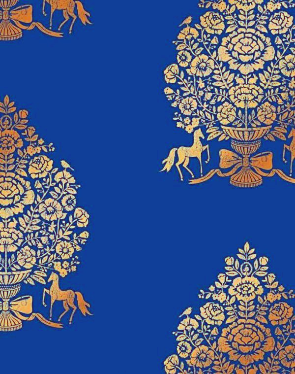 Wandverkleidung - Blue Wallpaper - the perfect Piped in each room